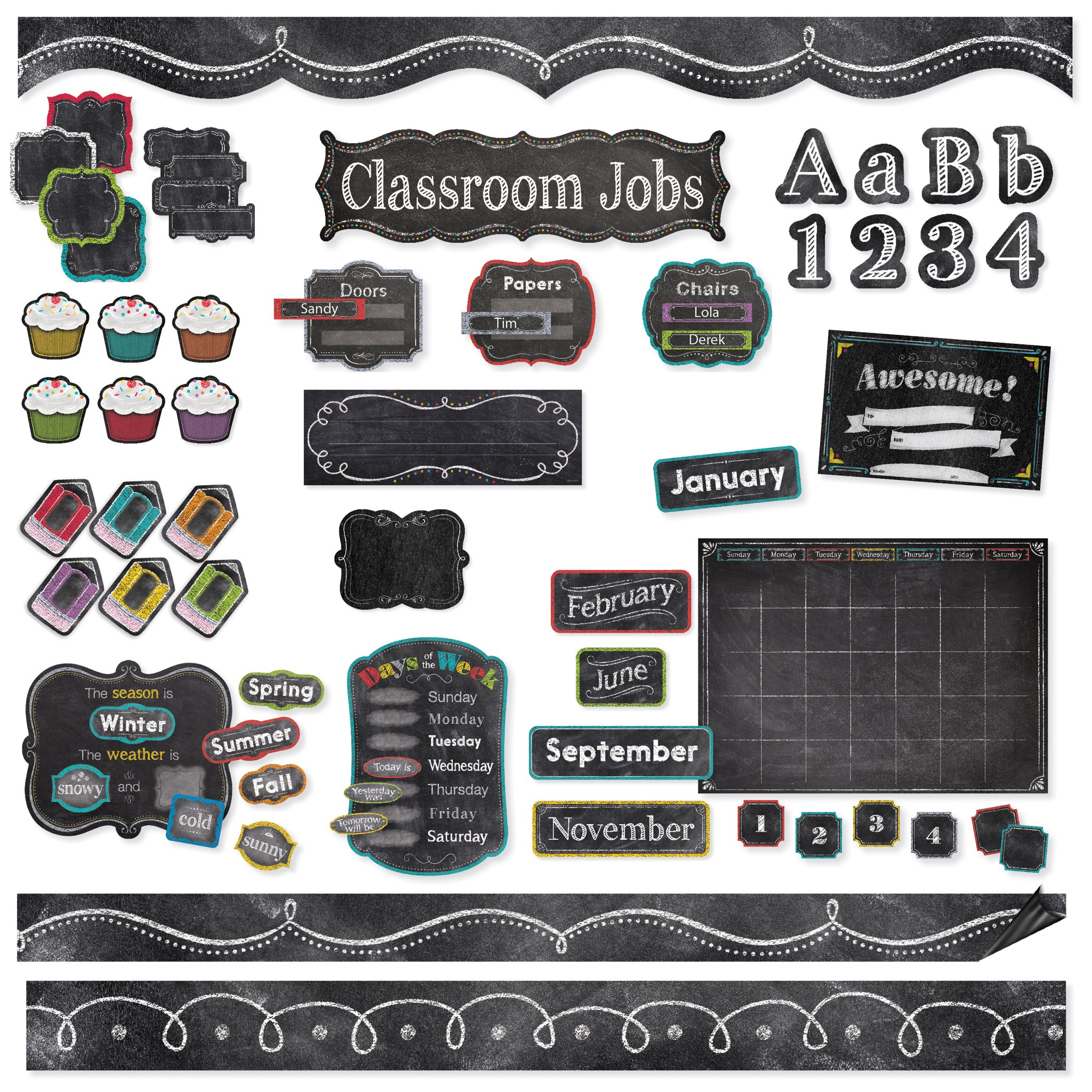 Creative Teaching Press CTP8881 Chalk It up Classroom Collection (Pack of 576)