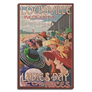 Louisville, Kentucky - Ladies Day at the Track Horse Racing (10x15 Wood Wall Sign, Wall Decor Ready to Hang)