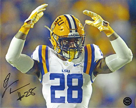 san francisco 9d5fa 149ba Jalen Mills Autographed LSU Tigers 8x10 Photo at Amazon's ...