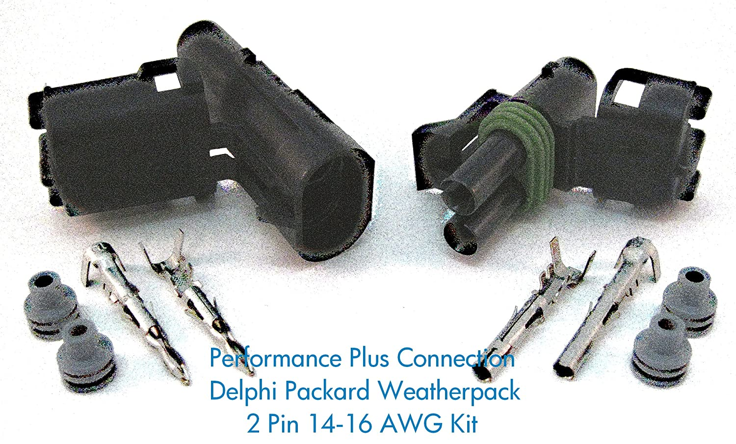 A1pusOoEH3L._SL1500_ amazon com delphi packard weatherpack 2 pin terminal kit 16 14 Automotive Wiring Harness Connectors at edmiracle.co
