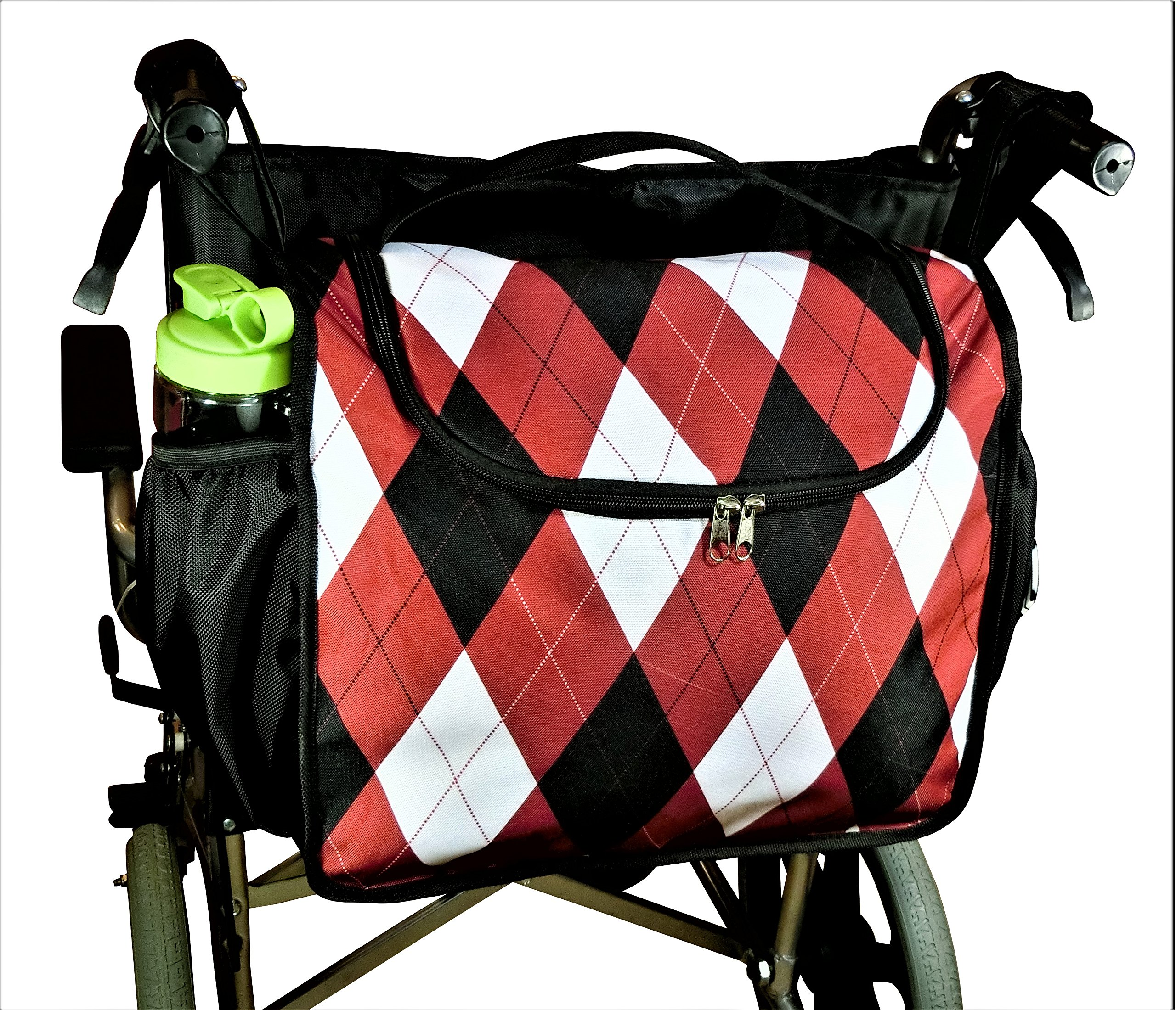 Wheelchair Back Pack, Wheelchair Bag, Wheelchair Carry Tote, Wheelchair Storage Bag, Large But Light Weight, Attractive Pattern, Unidex