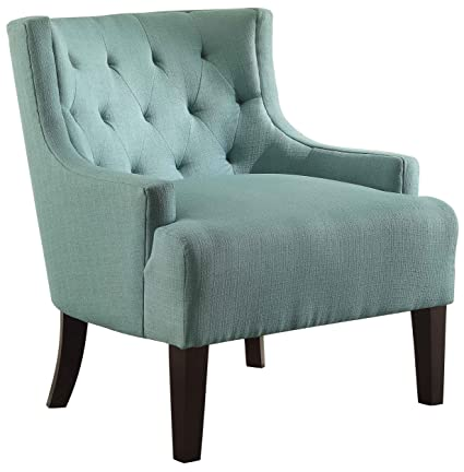 Homelegance 1233TL Tufted Fabric Accent Chair With Arms, Teal