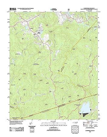 Amazon.com: Topographic Map Poster - Cashiers, NC-SC-GA TNM GEOPDF on