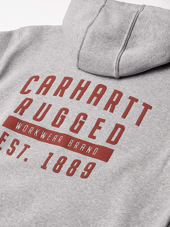 Carhartt Mens Original Fit Midweight Hooded Rugged Workwear Graphic Sweatshirt Sweatshirt
