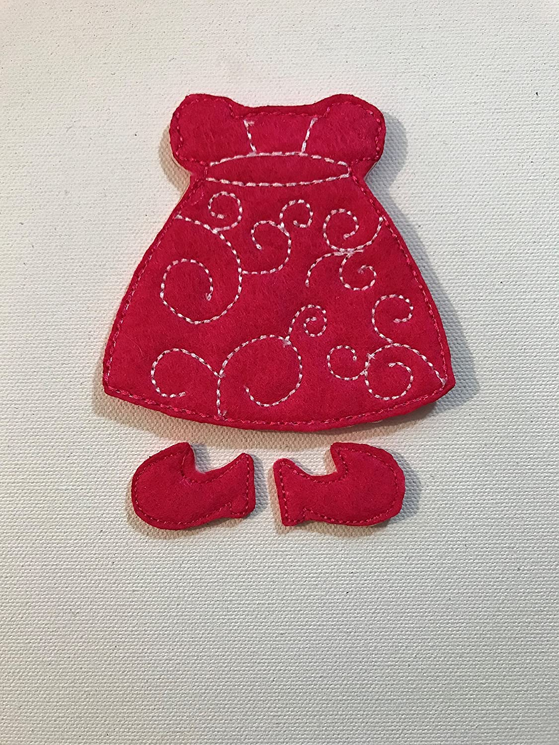 Non-Paper Flat Doll-9 with Nightgown and Outfit