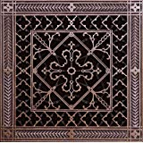 """Decorative Grille, Vent Cover, or Return Register. Made of Urethane Resin to fit over a 10""""x10"""" duct or opening. Total size of vent is 12""""x12""""x3/8"""", for wall and ceiling grilles (not for floor use)."""