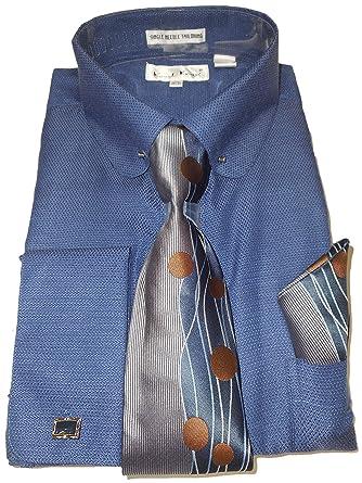 Karl Knox SX4412 - Camisa de Vestir para Hombre, Cuello Redondo ...