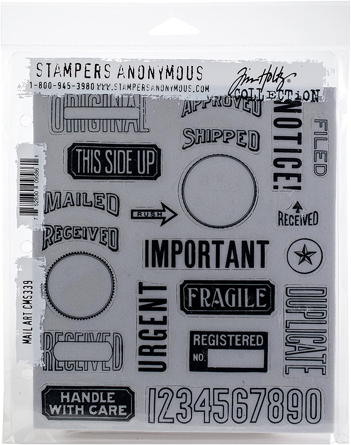 Stampers Anonymous CMS339 Cling Stamp THoltz Mail Art Art Gone Wild & Friends
