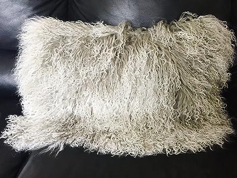 Amazon.com: Auténtica (tibetano) lana de piel de cordero de ...