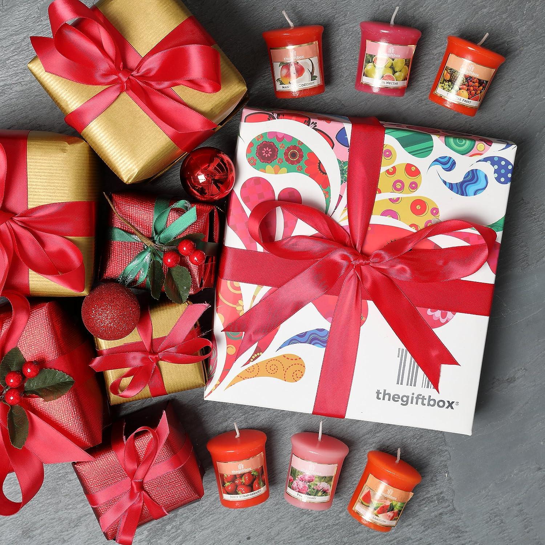 Bougies dans un coffret cadeau luxueux