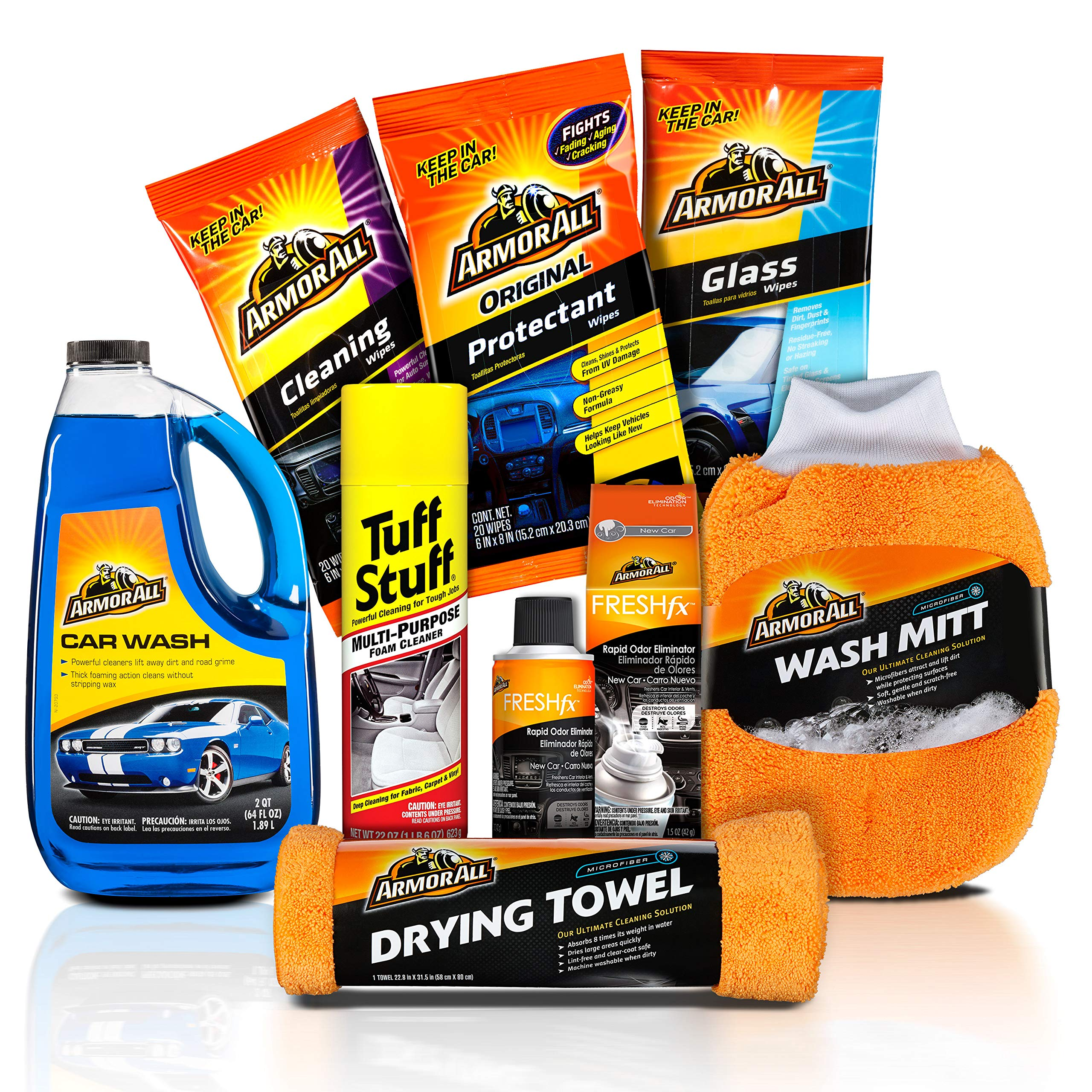 Armor All and Tuff Stuff New-to-You Used Car Cleaning Kit (8 items)