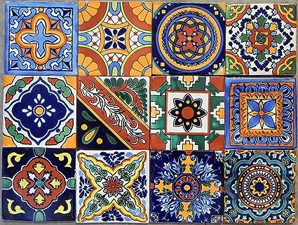40 Mexican Talavera Tiles Hand Painted 6u0026quot;x6u0026quot; Stairs Backsplash