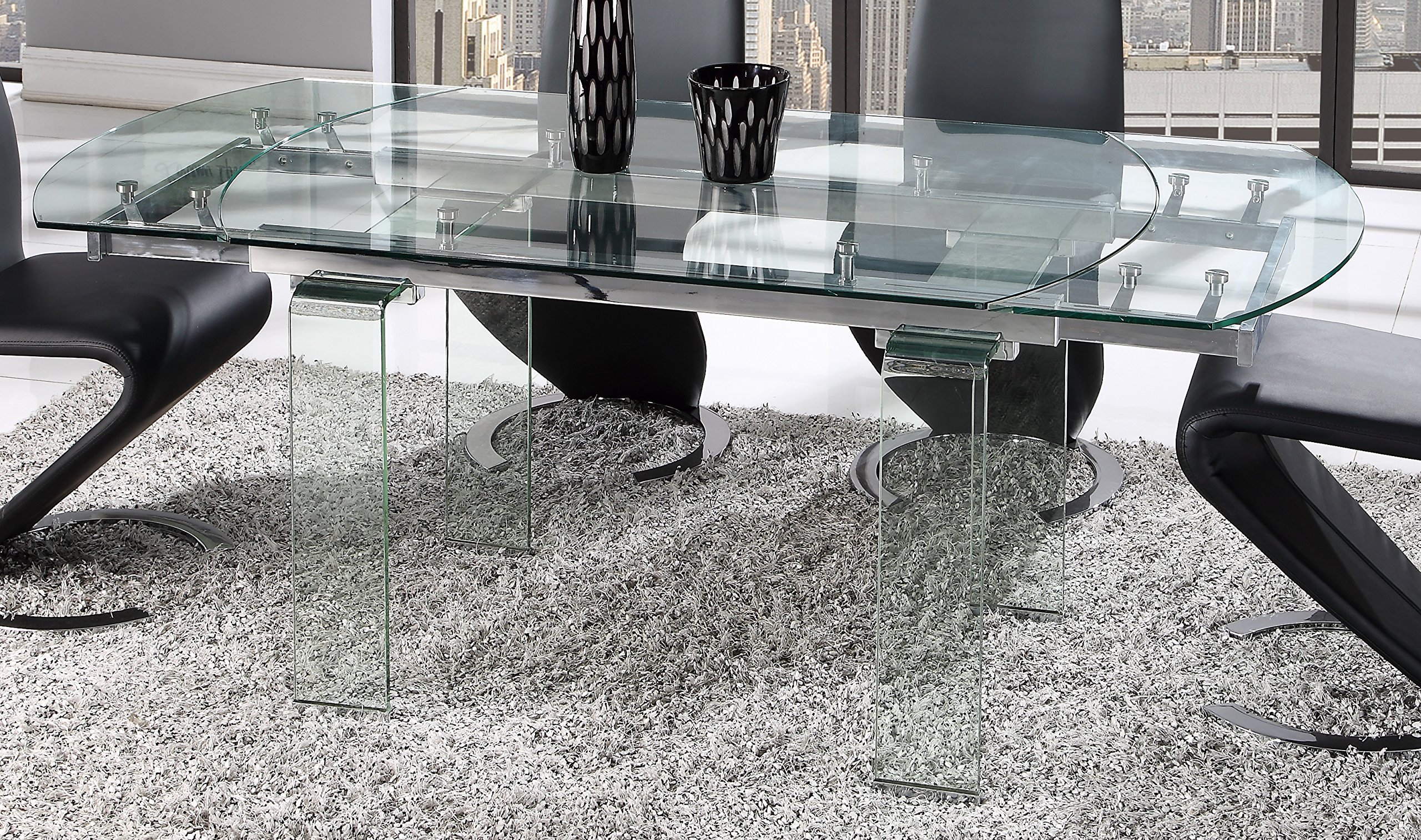 Global Furniture Dining Table, Clear Glass by Global Furniture USA