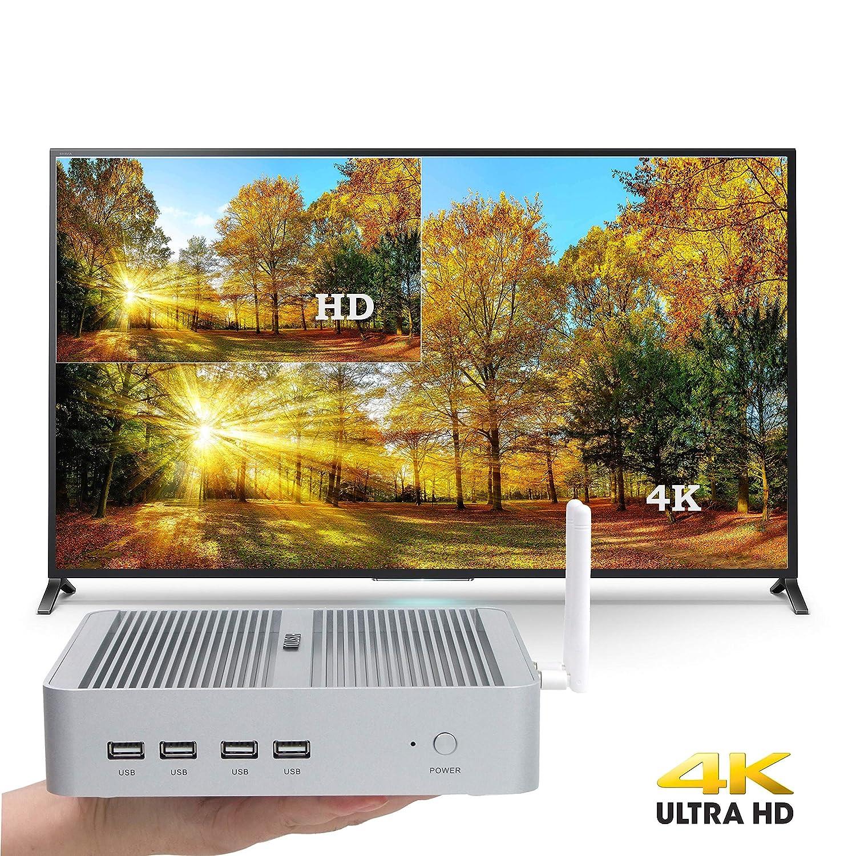 Intel nuc, Intel CoreTM i3-7100U,Mini Ordenador, Mini PC, Mini PC sin Ventilador, HDMI, VGA, LAN, 4USB3.0, 4USB2.0, Wi-Fi, Bluetooth 4.2, Windows 10 (OEM No ...