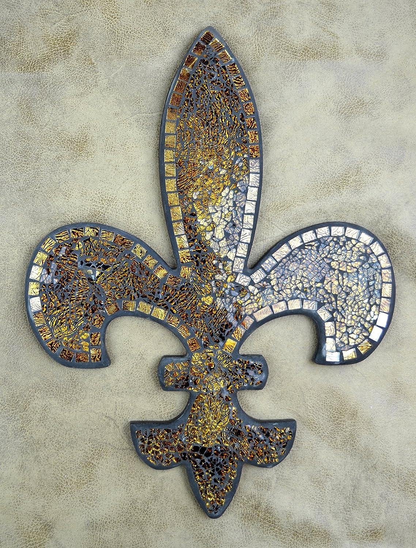 Amazon.com: Lulu Decor, Fleur De Lis Decor, Wall Decorative Plaque, Perfect  For Housewarming Gift (Amber Mosaic): Home U0026 Kitchen Part 44