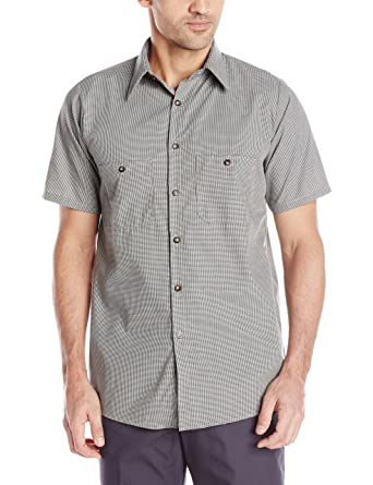 f557dbe8a7 Amazon.com  Red Kap Men s Micro Check Uniform Shirt  Clothing