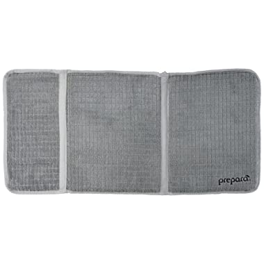 Prepara PP09-DDGYDX Drydock Dish Drying Mat in Gray, Extra Large