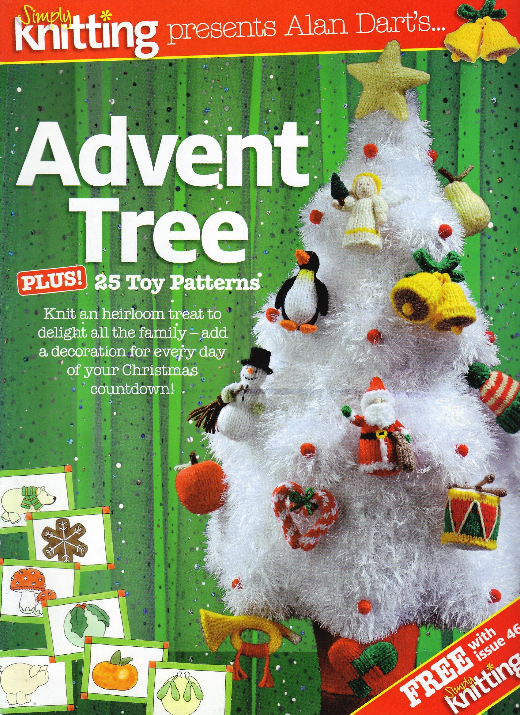 Christmas Advent Tree plus 25 Toy Patterns by Alan Dart Knitting ...