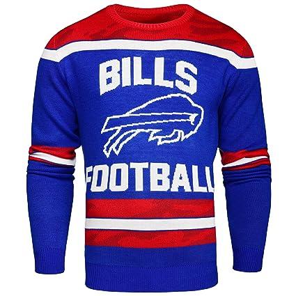 Amazoncom Buffalo Bills Ugly Glow In The Dark Sweater Mens
