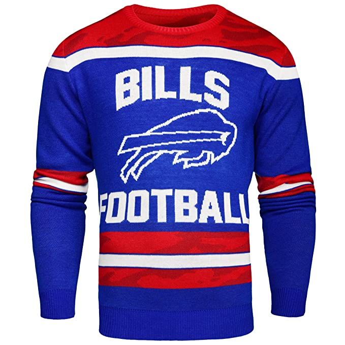 size 40 48a61 bff4c Amazon.com : Buffalo Bills Ugly Glow In The Dark Sweater ...