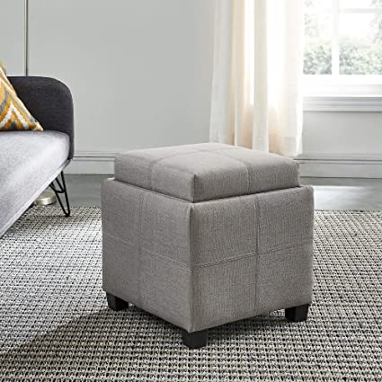 Brilliant Amazon Com Luxy Storage Cube With Reversible Tray Lid Light Bralicious Painted Fabric Chair Ideas Braliciousco