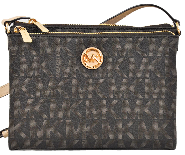Amazon.com: Michael Kors Fulton Crossbody Bag Brown (35T6GFTC7B): Clothing