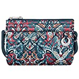 Travelon Travelon Women's Anti-theft Boho Clutch Crossbody Cross Body Bag, Summer Paisley (multi) - 33222 32X