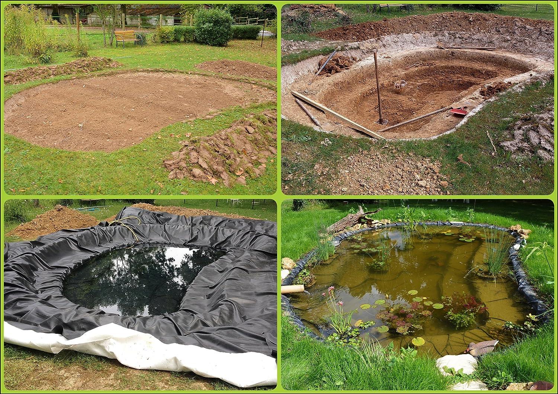 B/âche pour bassin B/âche pour bassin de jardin 1,0 mm noir B/âche pour le bassin de jardin Construction de bassin diff/érentes dimensions
