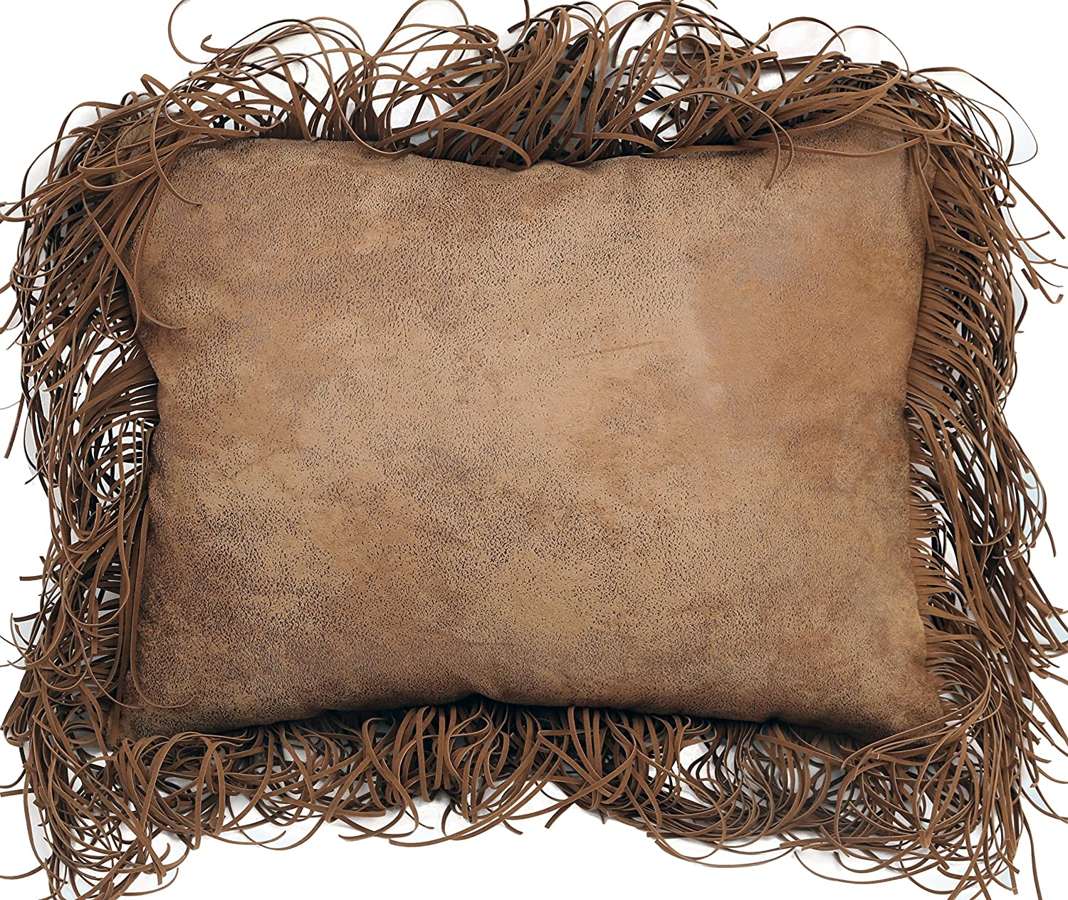 Carstens Inc Tabacco Tobacco Fringe Pillow