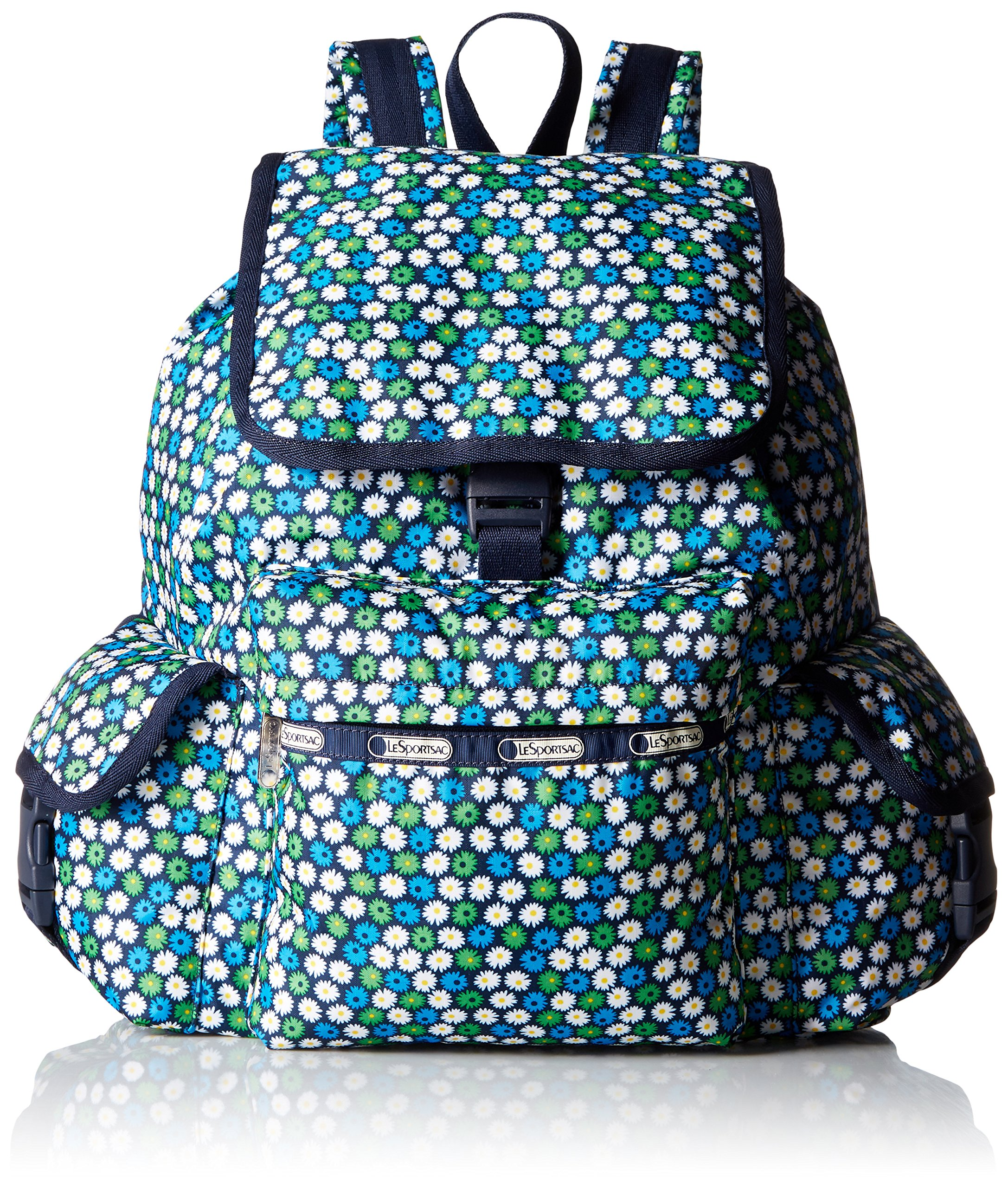 LeSportsac Voyager Back pack, Travel Daisy, One Size