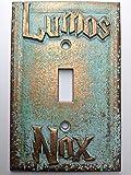 Lumos/Nox (Harry Potter) Light Switch Cover (Custom) (Aged Patina)