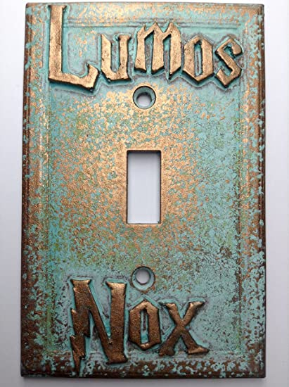 Amazon lumosnox harry potter light switch cover custom lumosnox harry potter light switch cover custom aged patina sciox Image collections