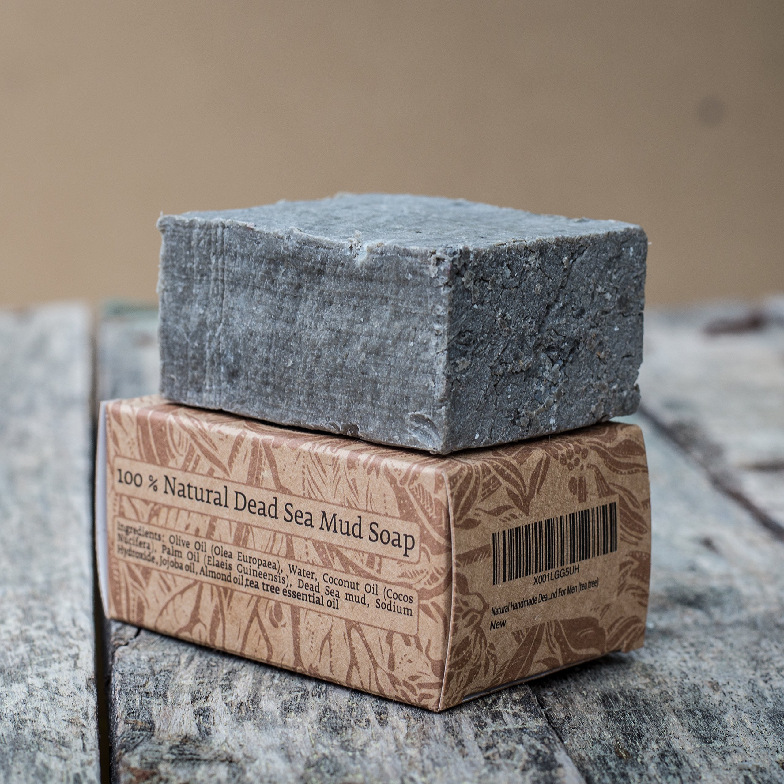 Natural Handmade Dead Sea Mud Soap bar For Fathers day gifts For Women And For Men (tea tree)