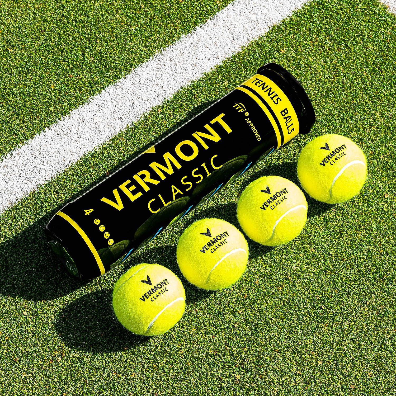 Vermont Classic Classic Classic Tennisball - ITF genehmigt - Hochleistungs-DuraCore-Gummi - FluroFelt gewebt Tuch - geeignet für alle Court-Oberflächen - Expert Durability [Net World Sports] B07DKGPZWR Tennisblle Große Klassifizierung 2ee4fc