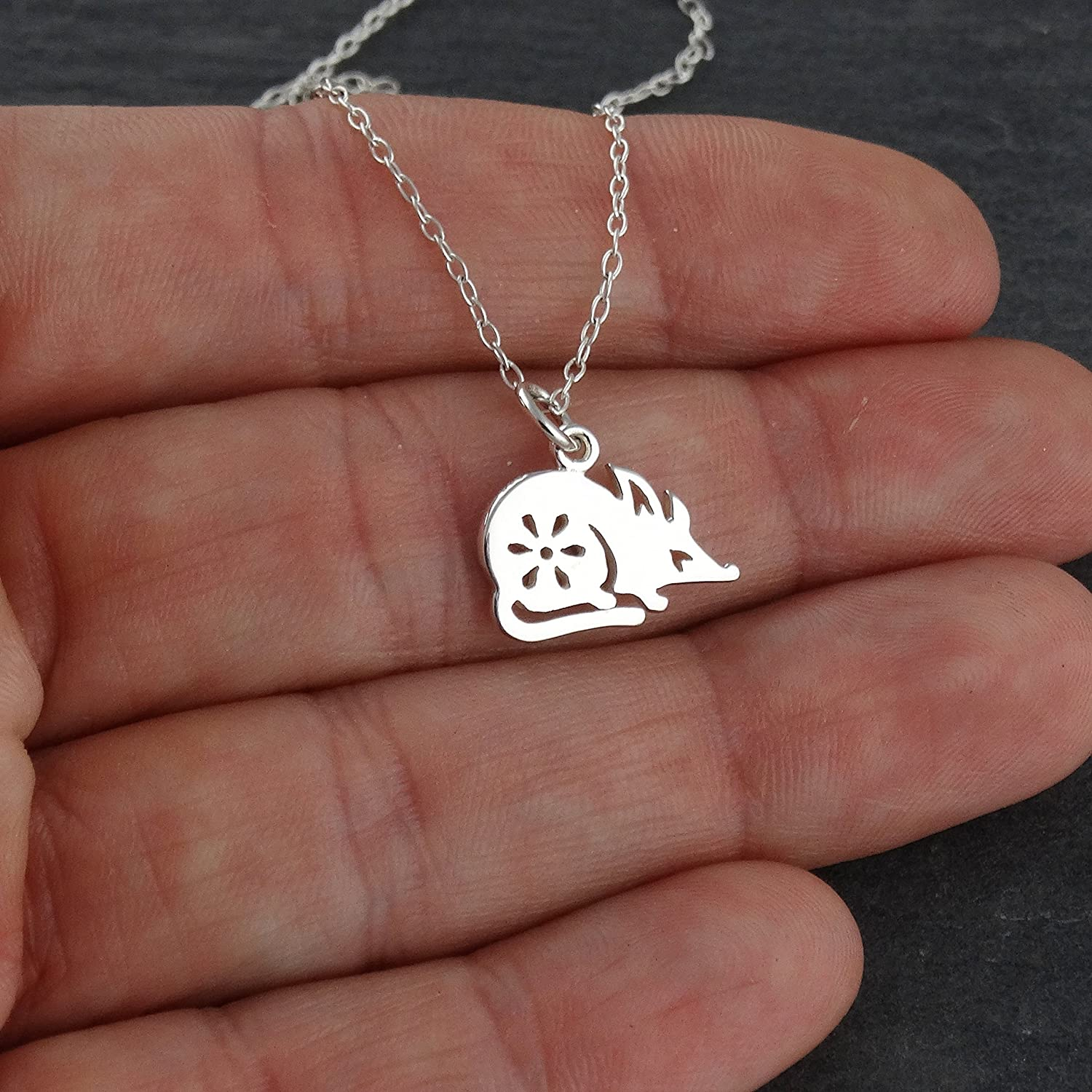 Sterling Silver 15mm Tall Chinese Zodiac Pendant for Year of the Rat .925