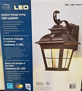 Altair Energy Saving LED Lantern - Brushed Patina Finsh with Clear Water Glass & Altair Lighting Outdoor LED Lantern 3000 Kelvin LED Mini 5.5in ... azcodes.com