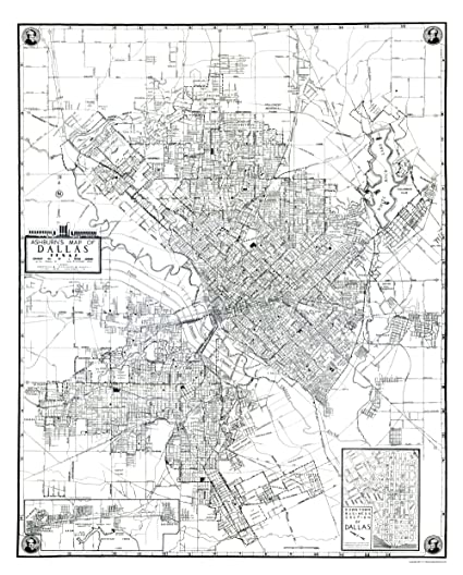 Old Dallas Map.Amazon Com Old City Map Dallas Texas Ashburn 1942 23 X 28 60