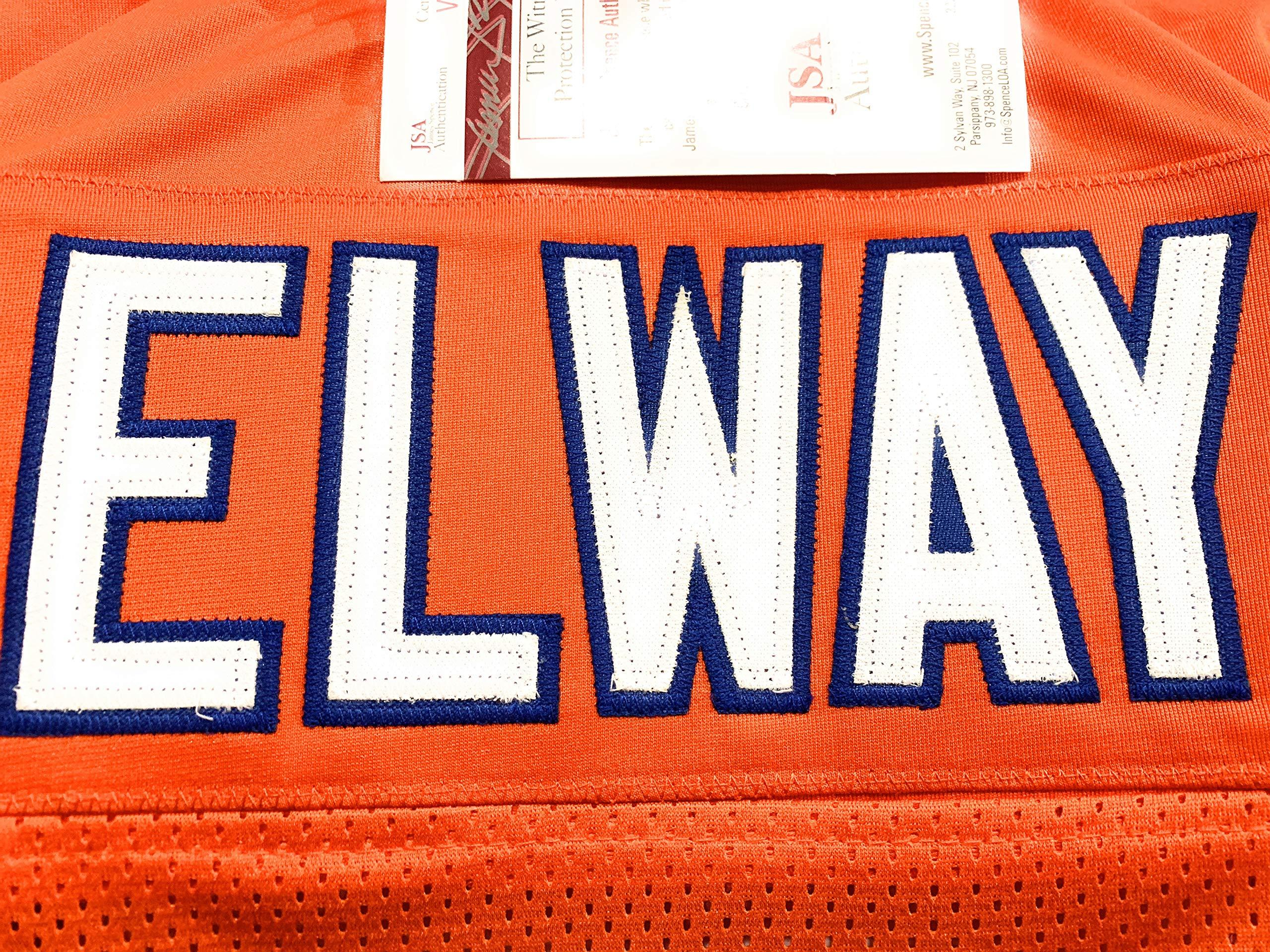 John Elway Denver Broncos Signed Autograph Custom Jersey Elway Hologram JSA Witnessed Certified