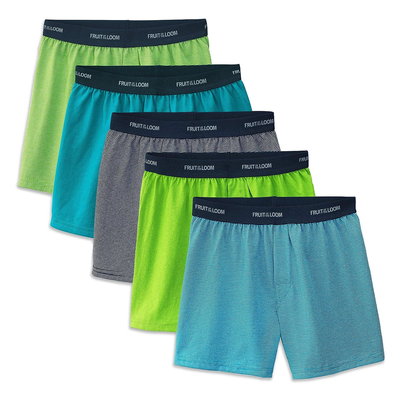 c1e76843e5b3 Amazon.com: Fruit of the Loom Big Boys' 5 Pack Knit Boxer: Clothing
