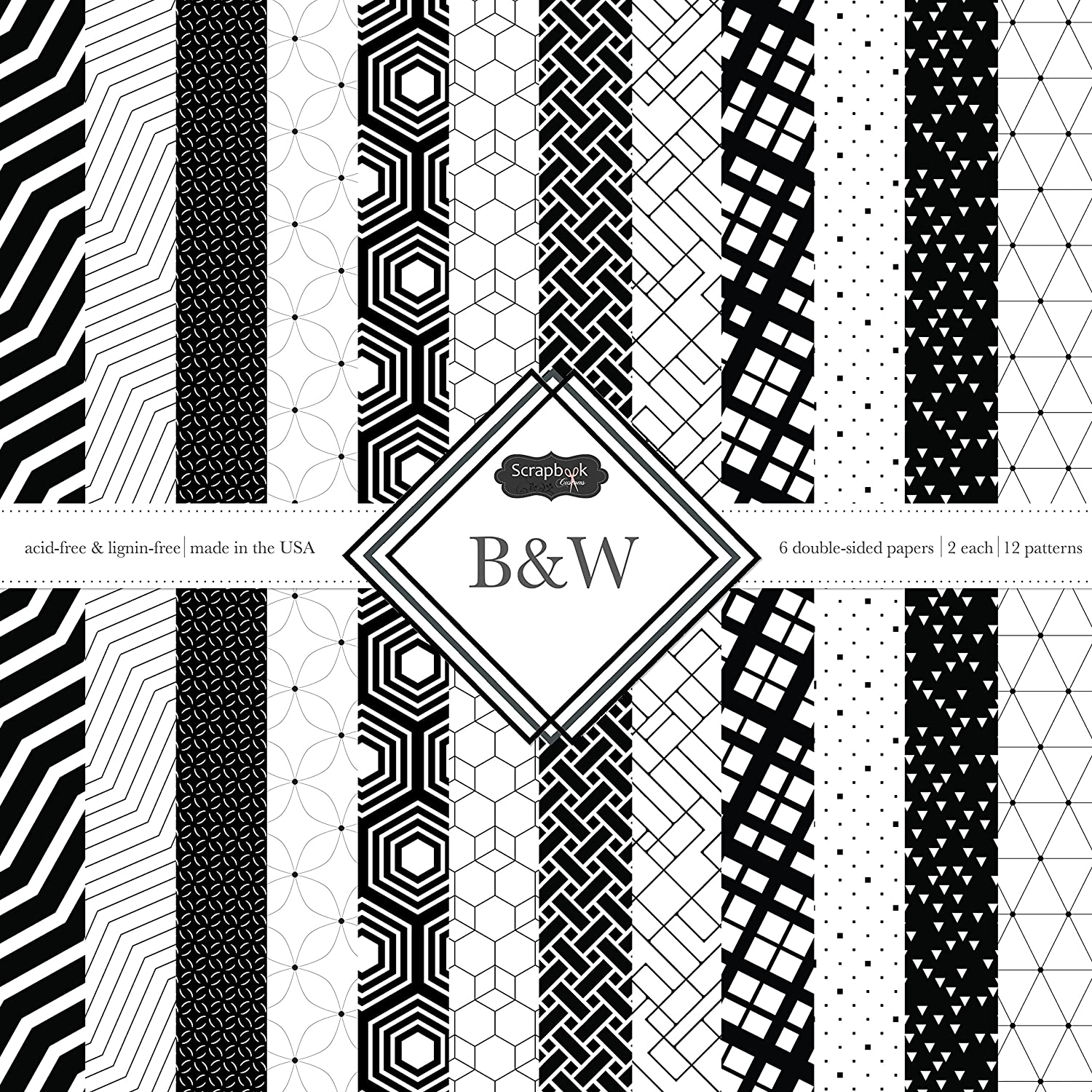 Scrapbook Customs Themed Paper Scrapbook Kit, black & White Inc. 37467