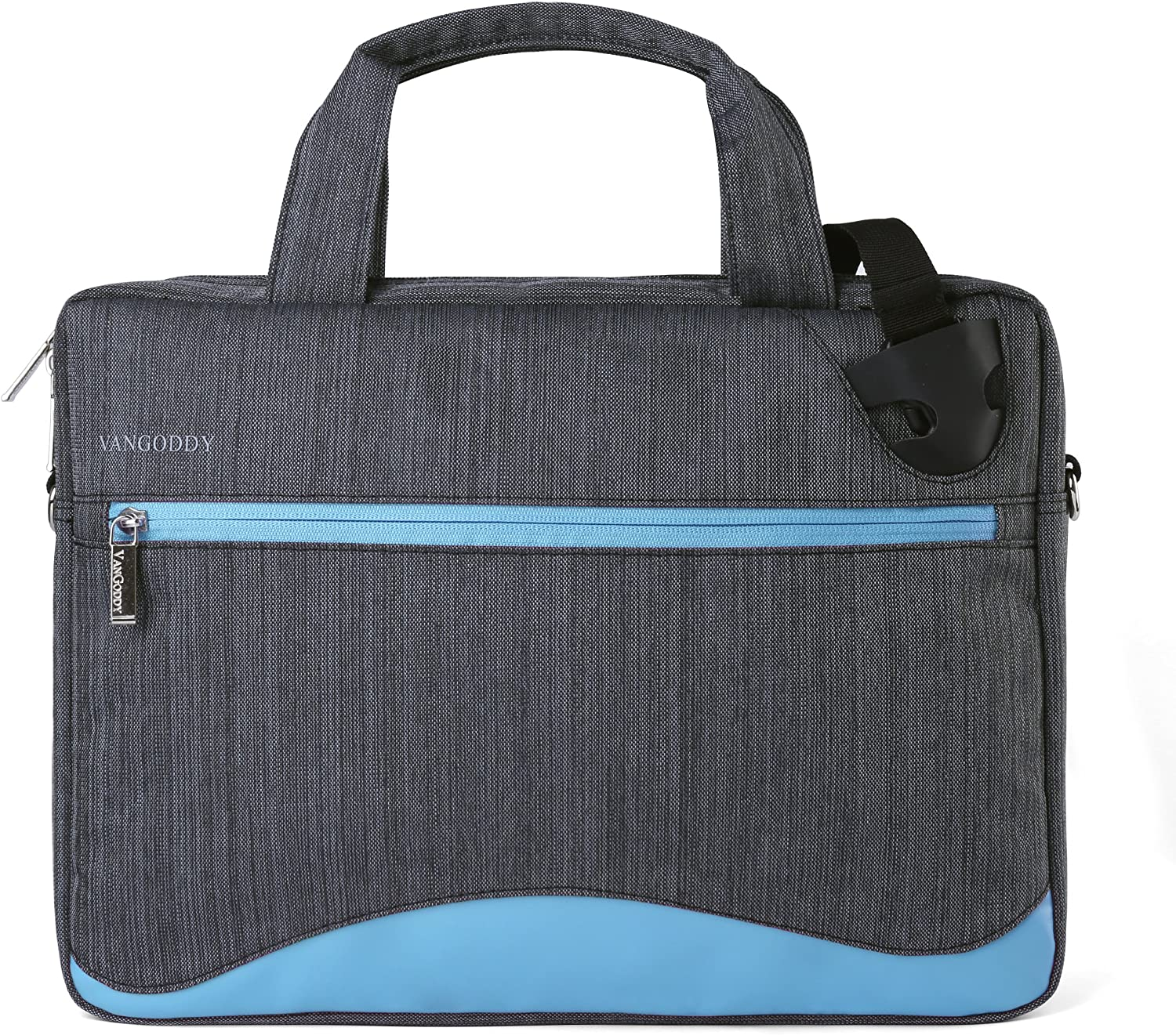 Slim Blue Anti-Theft Laptop Messenger Bag 11 to 13.3 inch for Dell Alienware, ChromeBook, Latitude, Inspiron, XPS