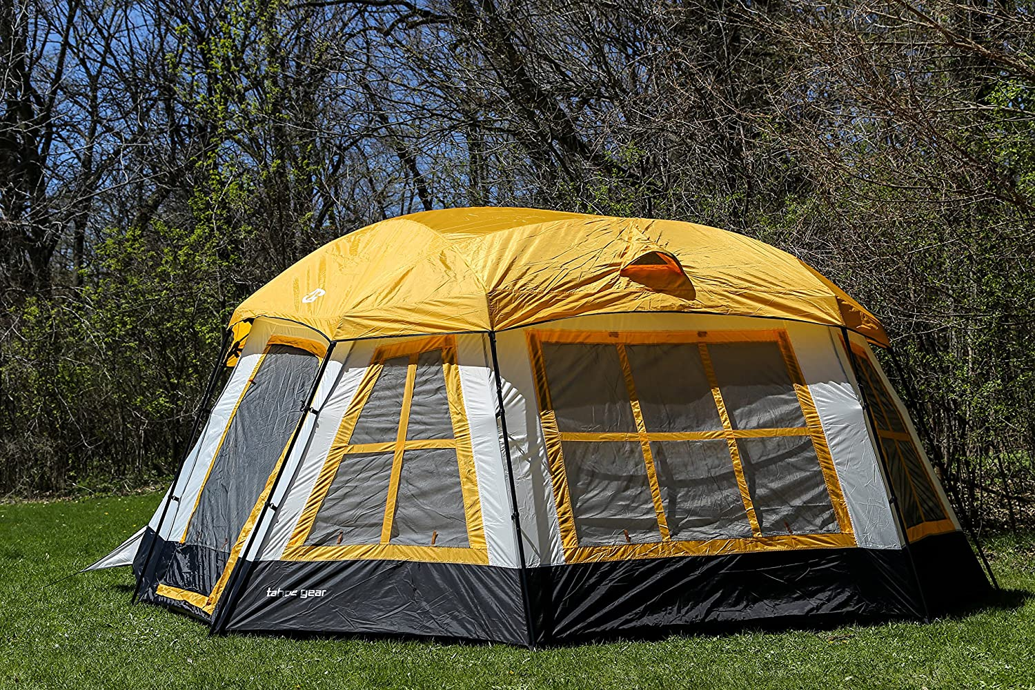 Tahoe Gear Ozark 3-Season 16 Person Large Family Cabin Tent - 16 person tent