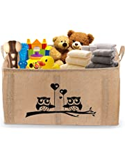 "Gimars X-Large Well Standing 26"" Toy Chest Baskets Storage Bins for Dog Toys, Kids & Children Toys, Blankets, Clothes - Perfect for Playroom & Shelves"