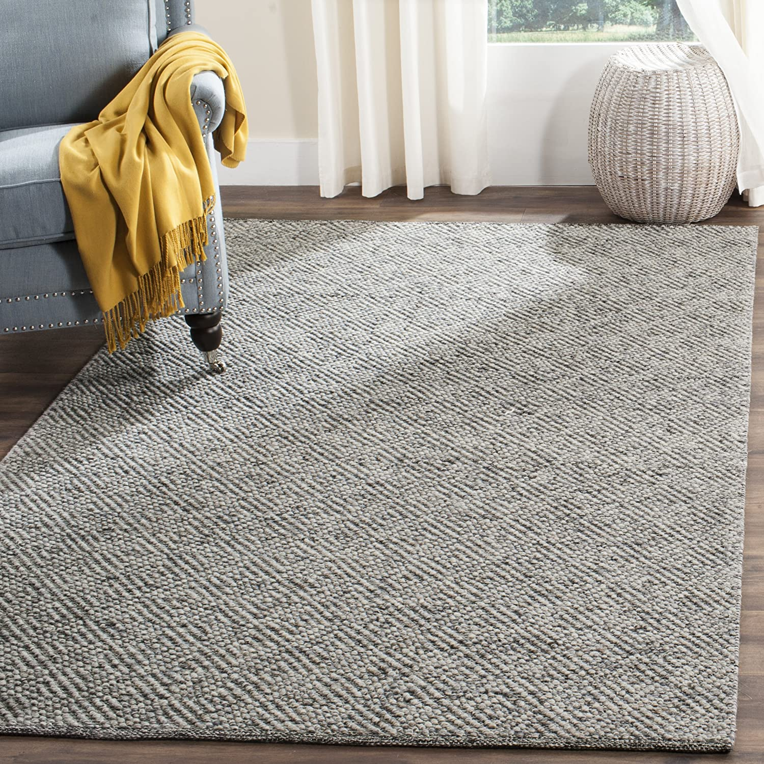 Safavieh Natura Collection NAT503C Hand-Woven Camel and Grey Area Rug (9' x 12')