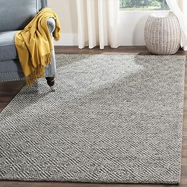 Safavieh NAT503C-8 Natura Collection Handmade Wool & Cotton Area Rug, 8' x 10', Camel/Grey