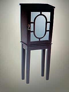 Amazoncom Powell Contemporary Jewelry Armoire Dark Espresso
