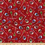 Amazon Com Lacrosse Sports Cotton Fabric By Elizabeth S