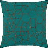 "Amazon Brand – Rivet Modern Geometric Decorative Print Throw Pillow, 20"" x 20"", Teal"