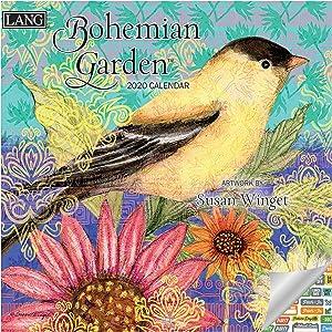 Lang Bohemian Garden Calendar 2020 Bohemian Garden Wall Calendar Bundle with Over 100 Calendar Stickers