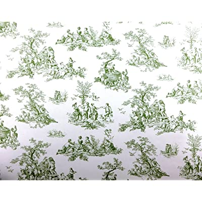 Melody Jane Dolls Houses House Miniature Print 1:12 Scale Pre Pasted Wallpaper Green Toile: Toys & Games